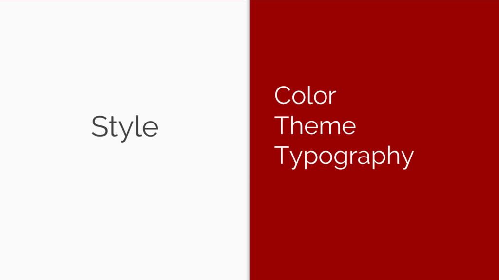 Style Color Theme Typography