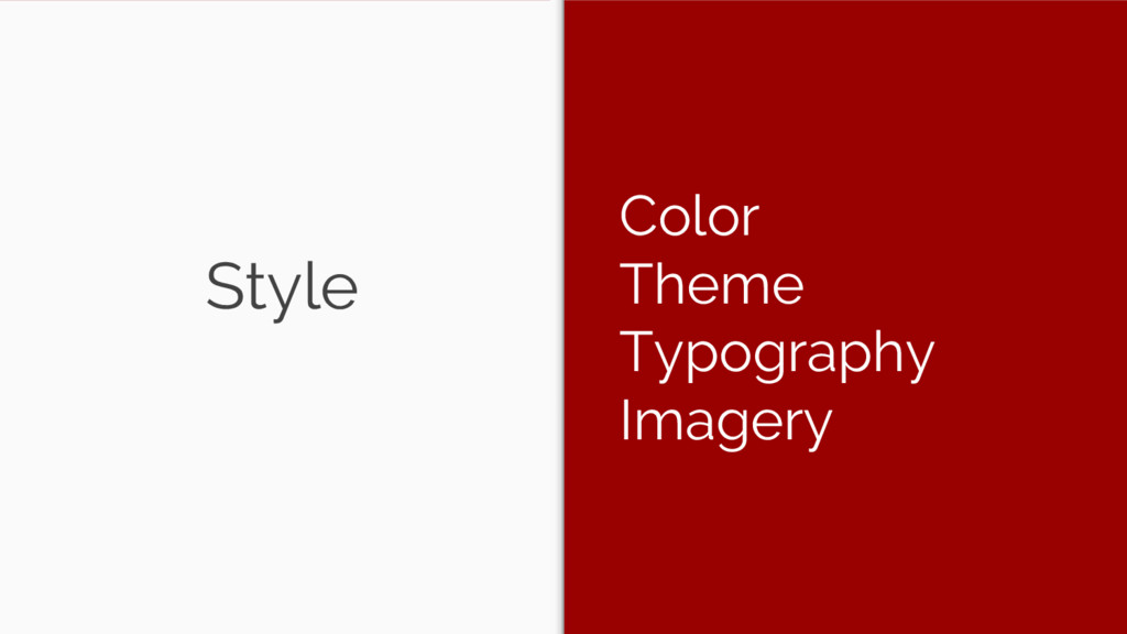 Style Color Theme Typography Imagery