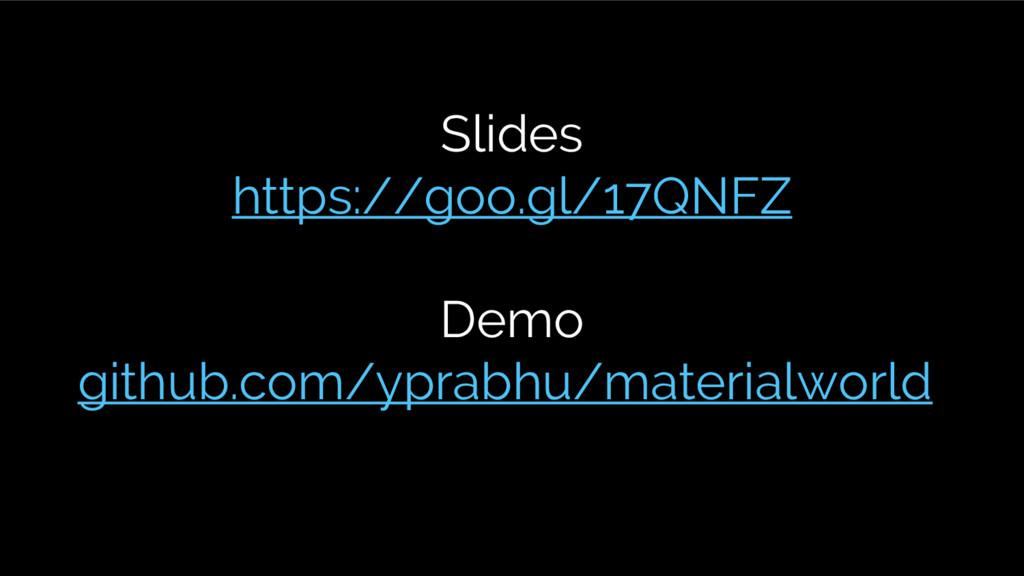 Slides https://goo.gl/17QNFZ Demo github.com/yp...