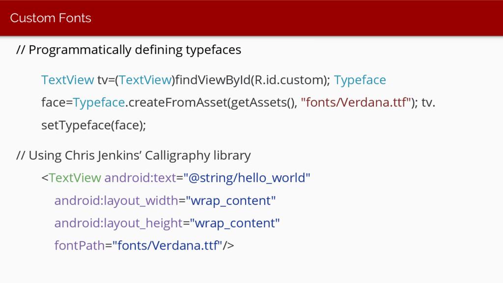 Custom Fonts // Programmatically defining typef...