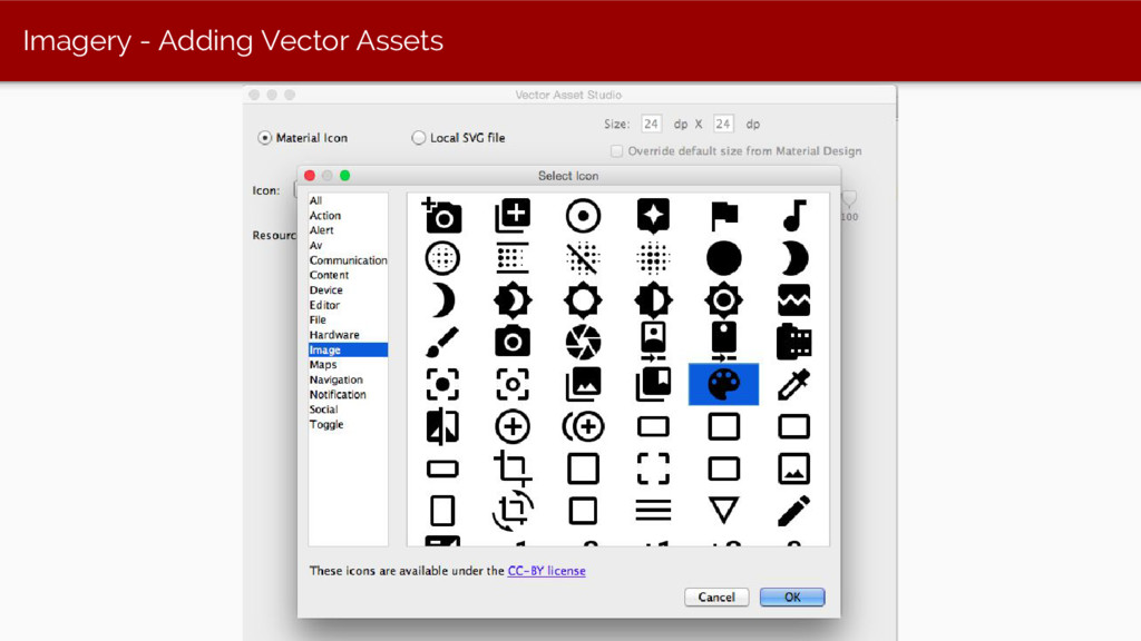 Imagery - Adding Vector Assets