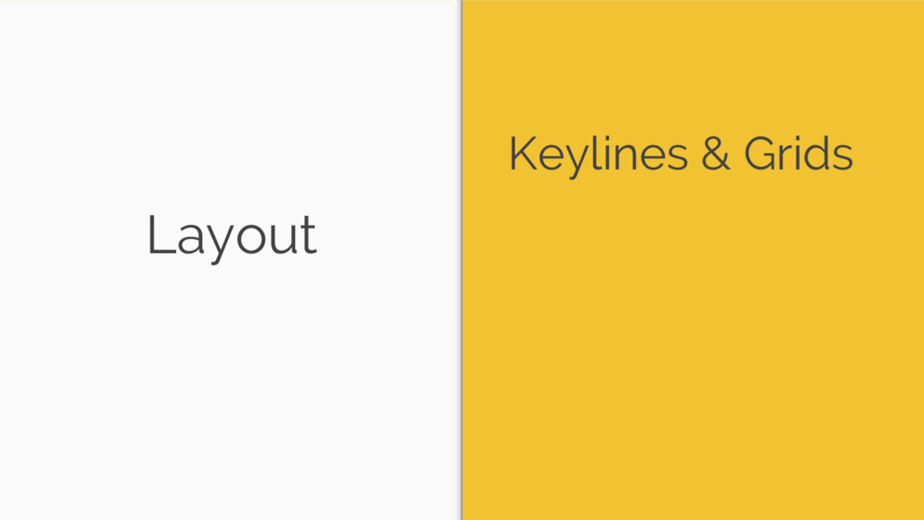 Layout Keylines & Grids