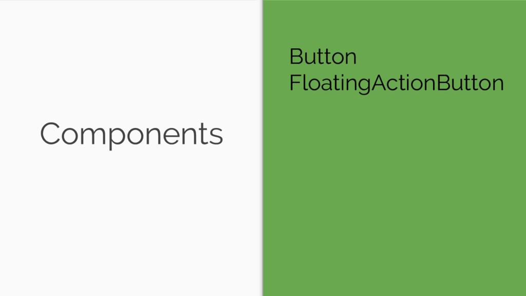 Components Button FloatingActionButton