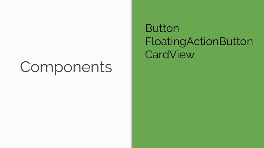 Components Button FloatingActionButton CardView