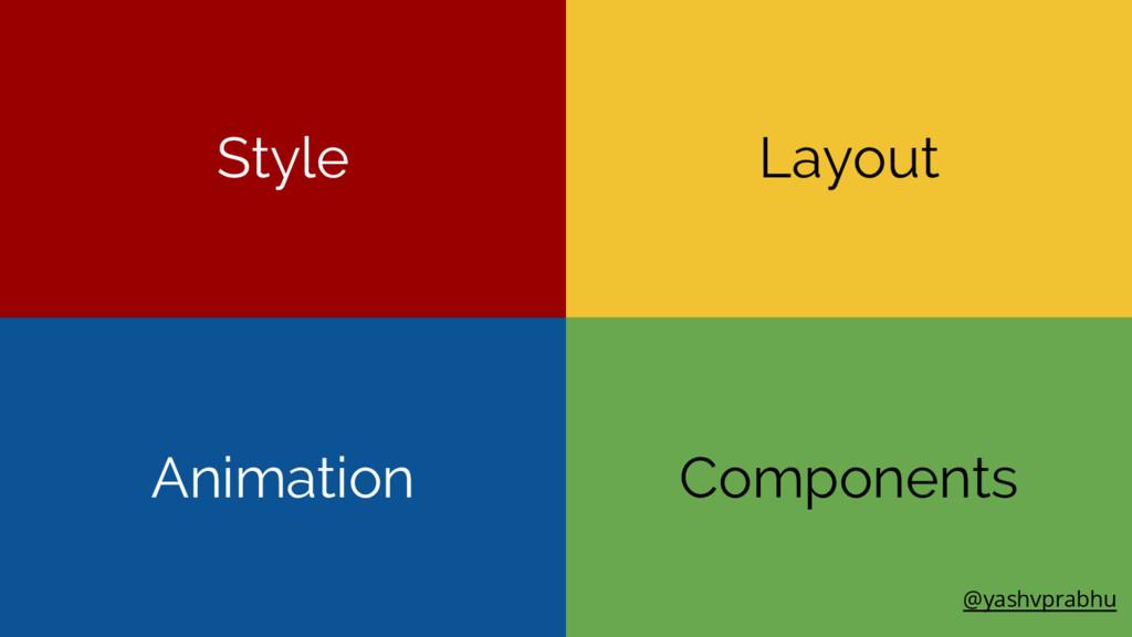 Components Layout Animation Style @yashvprabhu