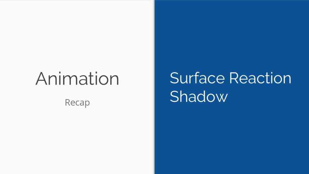 Animation Surface Reaction Shadow Recap