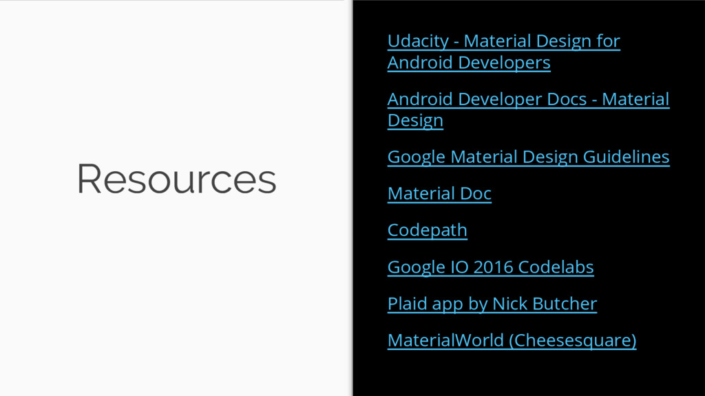 Resources Udacity - Material Design for Android...