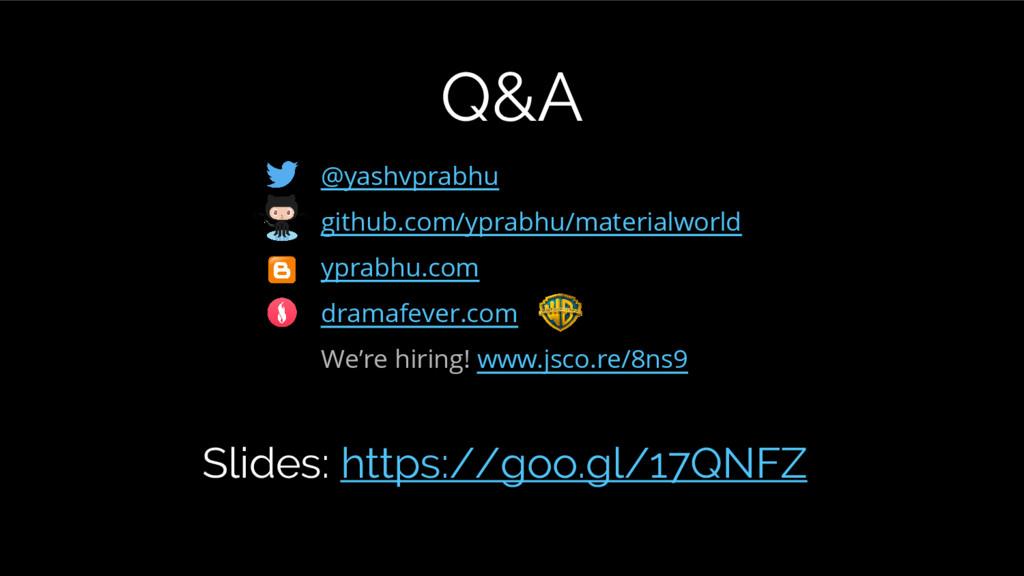@yashvprabhu github.com/yprabhu/materialworld y...
