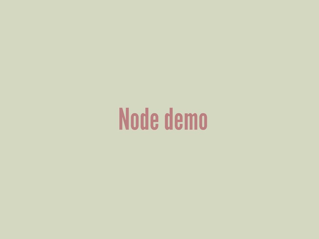 Node demo