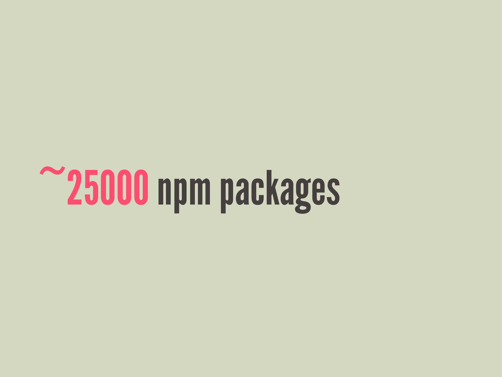 ~25000 npm packages