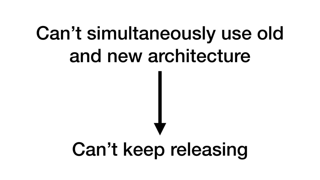 Can't simultaneously use old and new architectu...