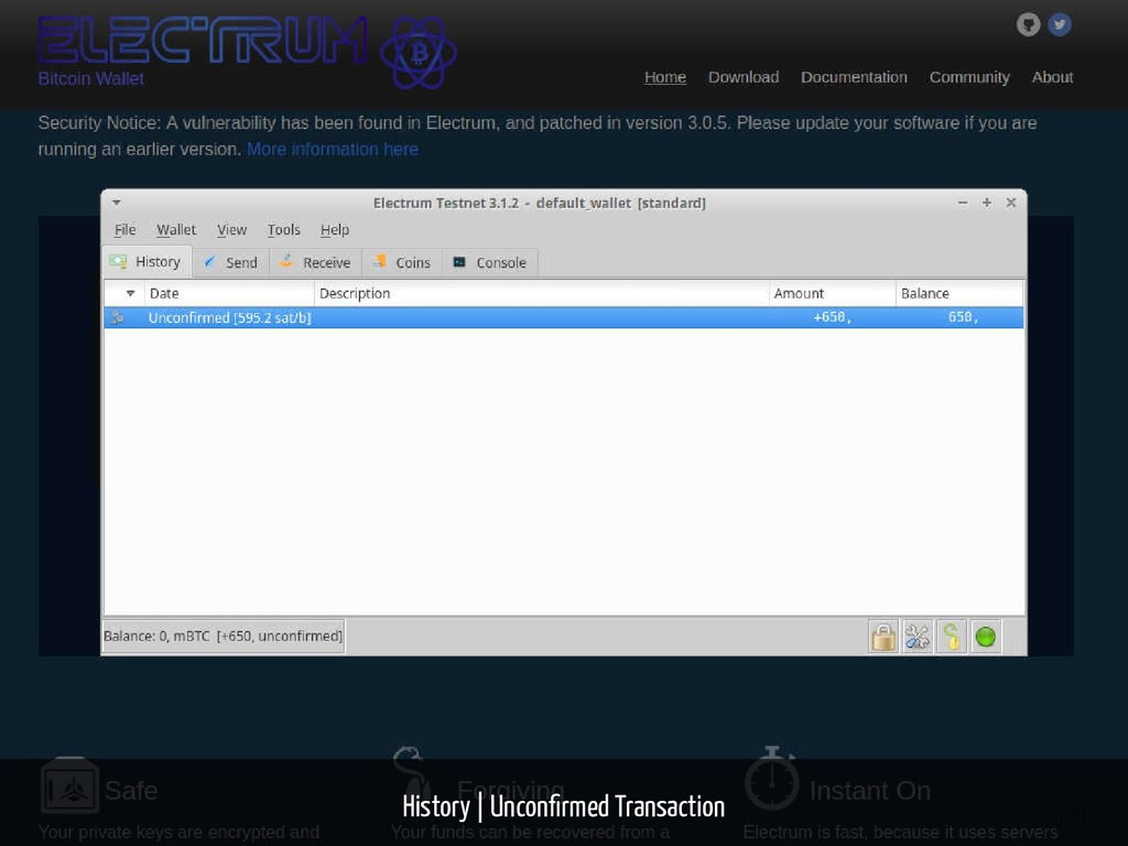 History   Uncon rmed Transaction 120 / 139