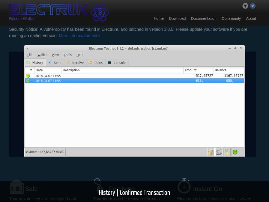 History   Con rmed Transaction 121 / 139