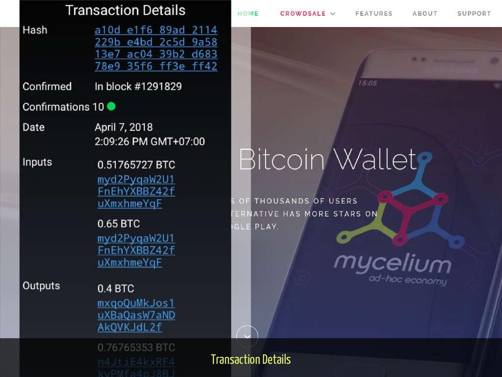 Transaction Details 136 / 139