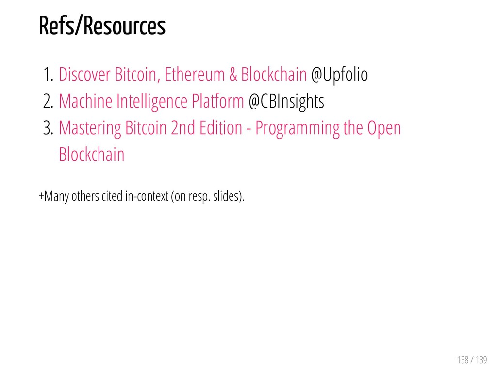 Refs/Resources 1. Discover Bitcoin, Ethereum & ...