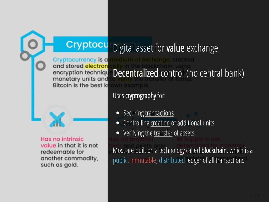 65 / 139 Digital asset for value exchange Decen...