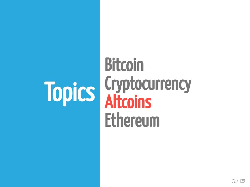 72 / 139 Topics Bitcoin Cryptocurrency Altcoins...