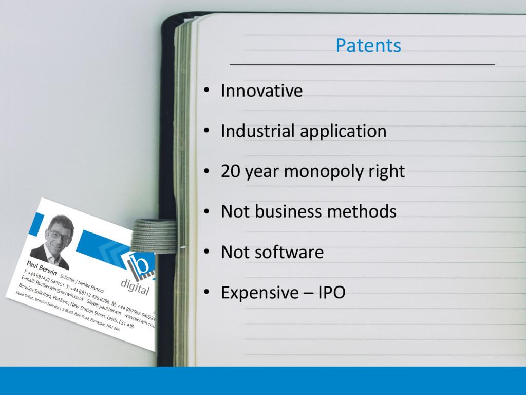 • Innovative • Industrial application • 20 year...