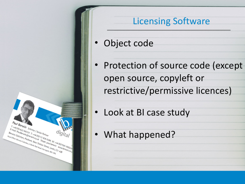 • Object code • Protection of source code (exce...