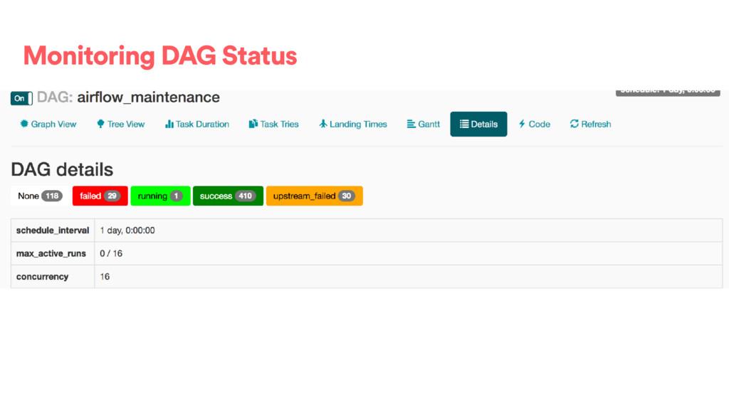 Monitoring DAG Status