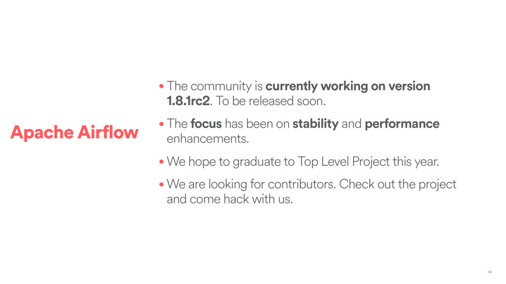 • The community is currently working on version...