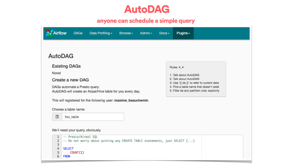 AutoDAG anyone can schedule a simple query