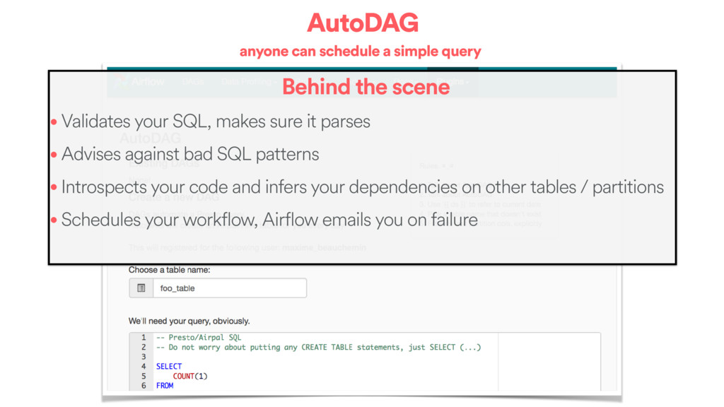AutoDAG anyone can schedule a simple query Behi...