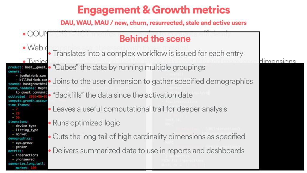 Engagement & Growth metrics DAU, WAU, MAU / new...