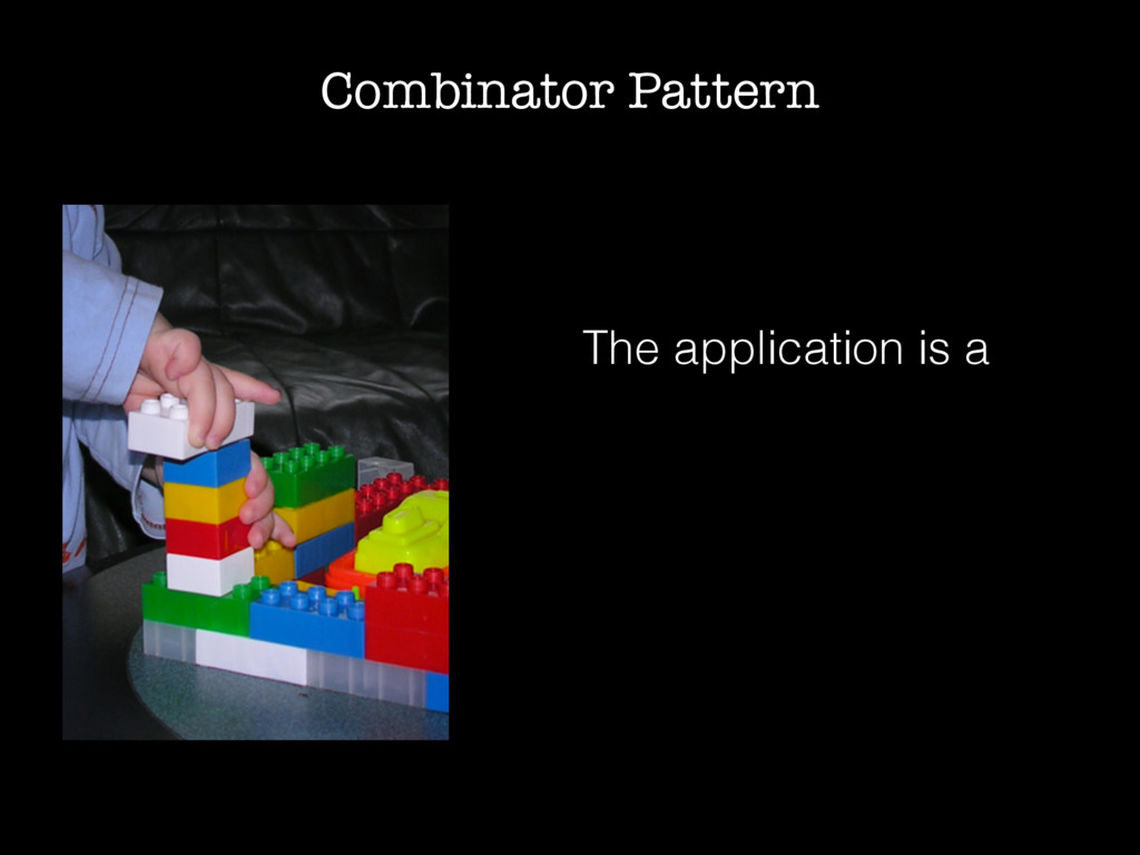 Combinator Pattern The application is a