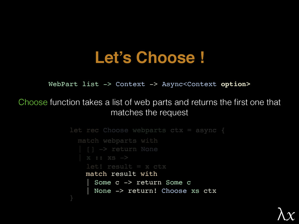 Let's Choose ! WebPart list -> Context -> Async...