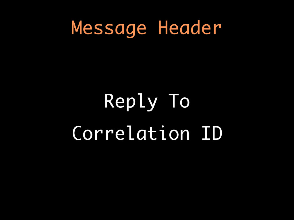 Message Header Reply To