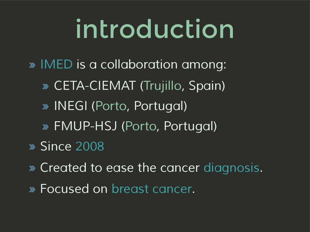 introduction » IMED is a collaboration among: »...