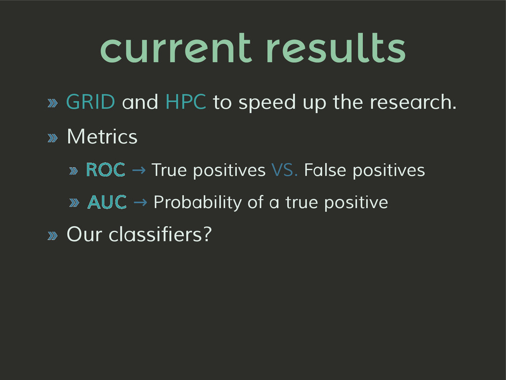 current results » GRID and HPC to speed up the ...