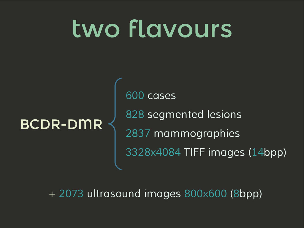 two flavours BCDR-DMR 600 cases 828 segmented l...