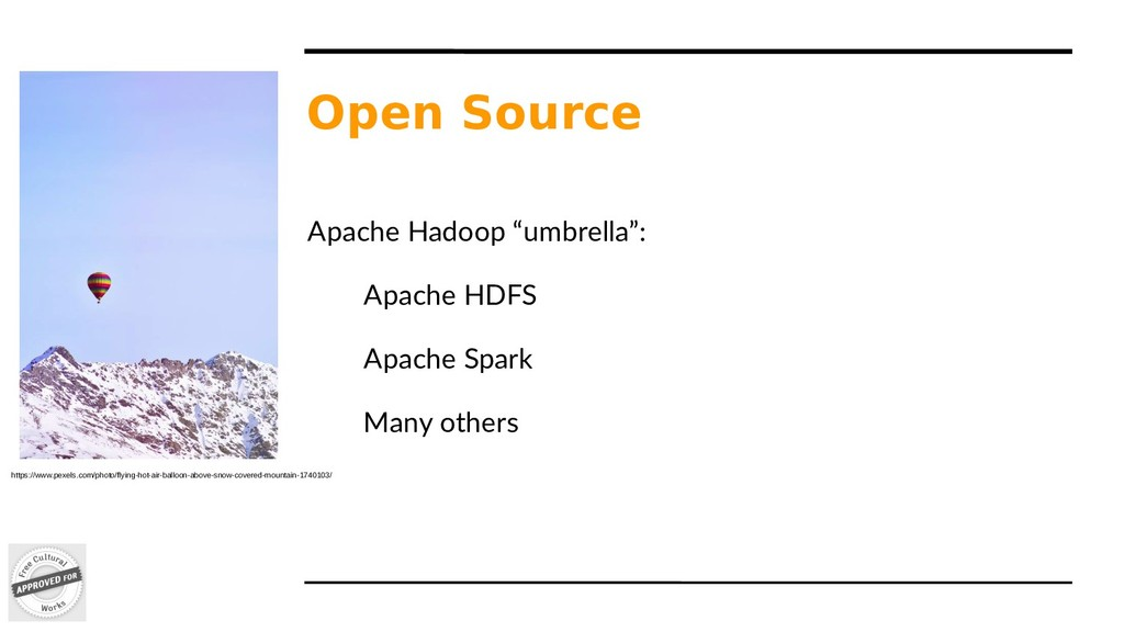 "Open Source Apache Hadoop ""umbrella"": Apache HD..."