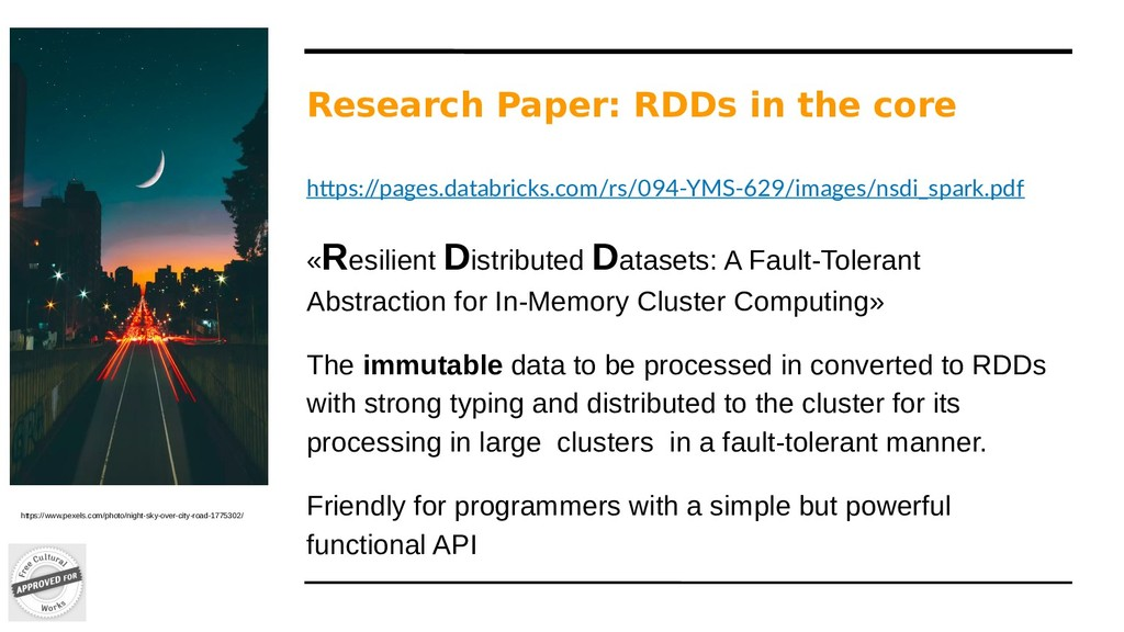 Research Paper: RDDs in the core https:/ /pages...