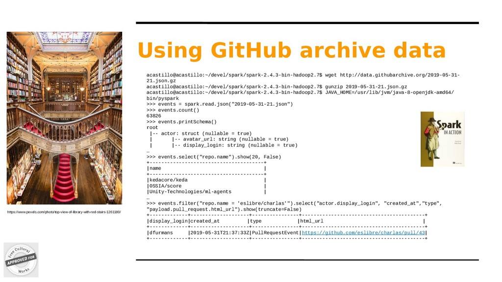 Using GitHub archive data https://www.pexels.co...