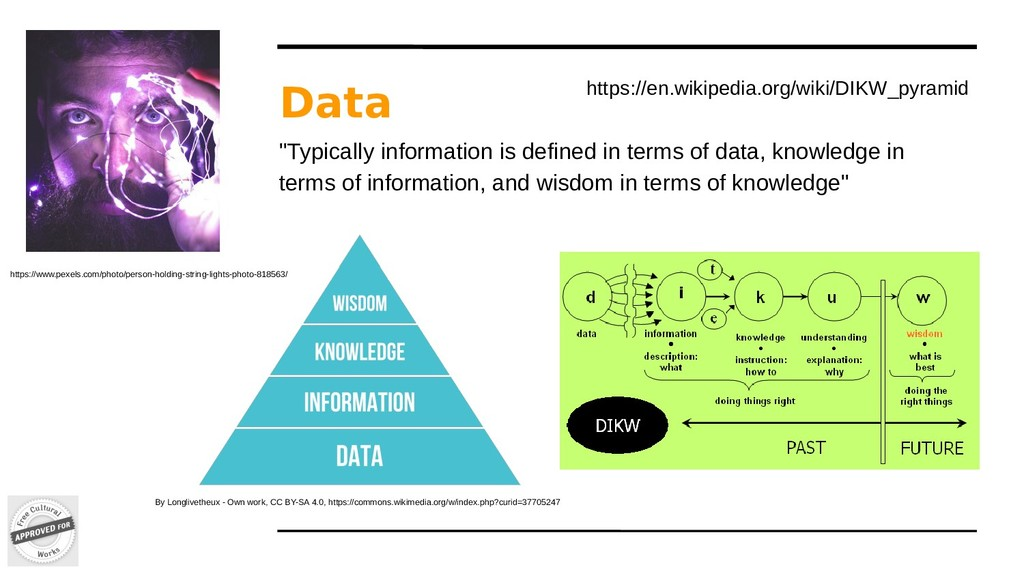 """Data """"Typically information is defined in terms..."""