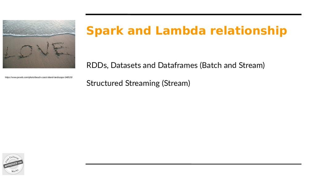 Spark and Lambda relationship RDDs, Datasets an...