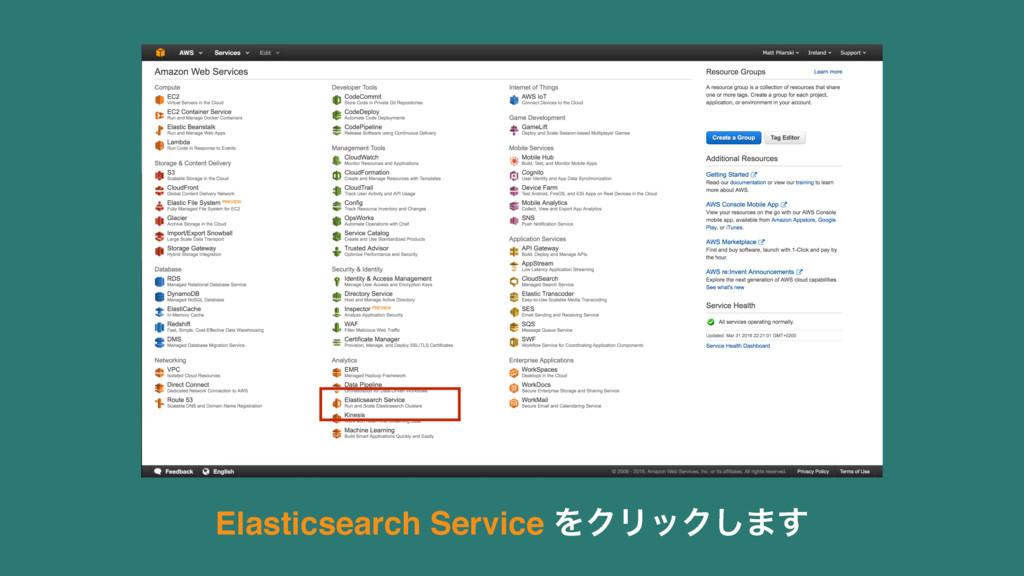 Elasticsearch Service ΛΫϦοΫ͠·͢