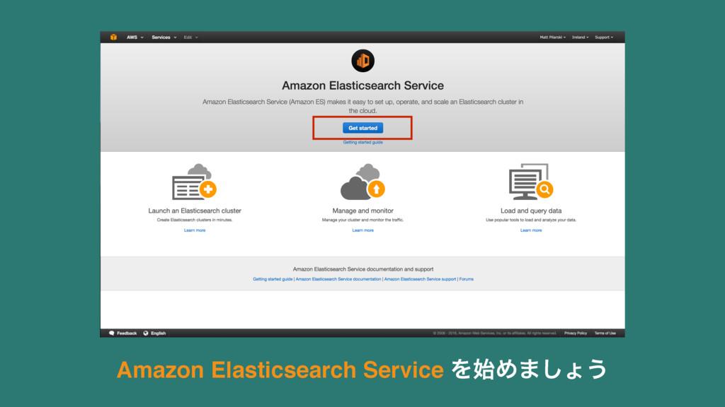 Amazon Elasticsearch Service ΛΊ·͠ΐ͏