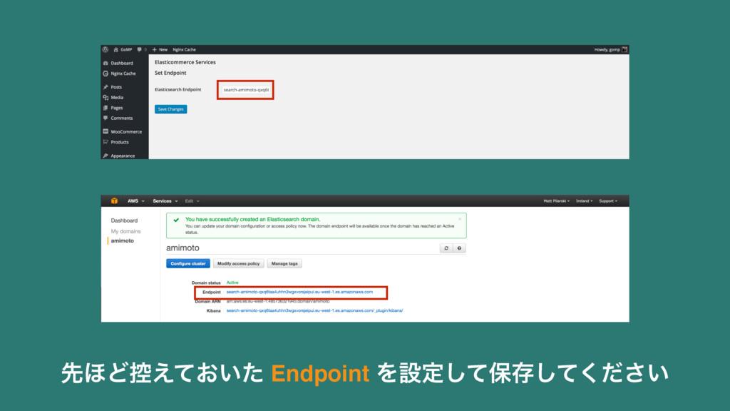 ઌ΄Ͳ߇͓͍͑ͯͨ Endpoint Λઃఆͯ͠อଘ͍ͯͩ͘͠͞