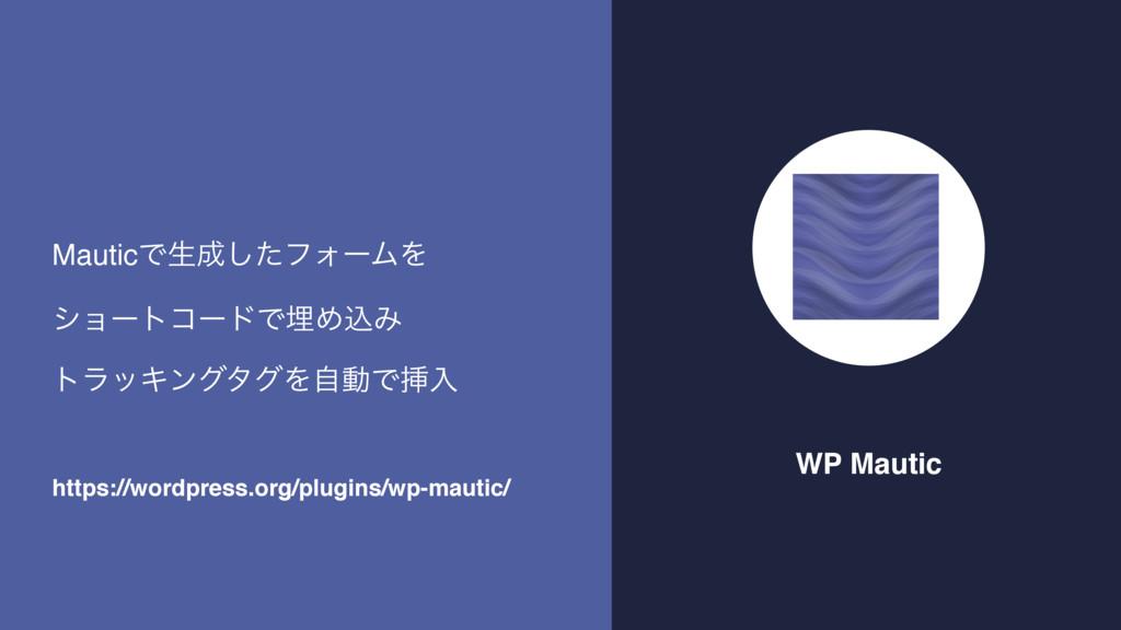 WP Mautic MauticͰੜͨ͠ϑΥʔϜΛ γϣʔτίʔυͰຒΊࠐΈ τϥοΩϯάλ...