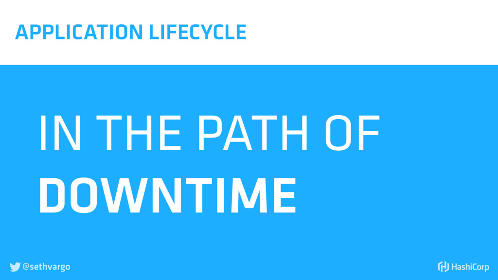 @sethvargo  APPLICATION LIFECYCLE IN THE PATH ...