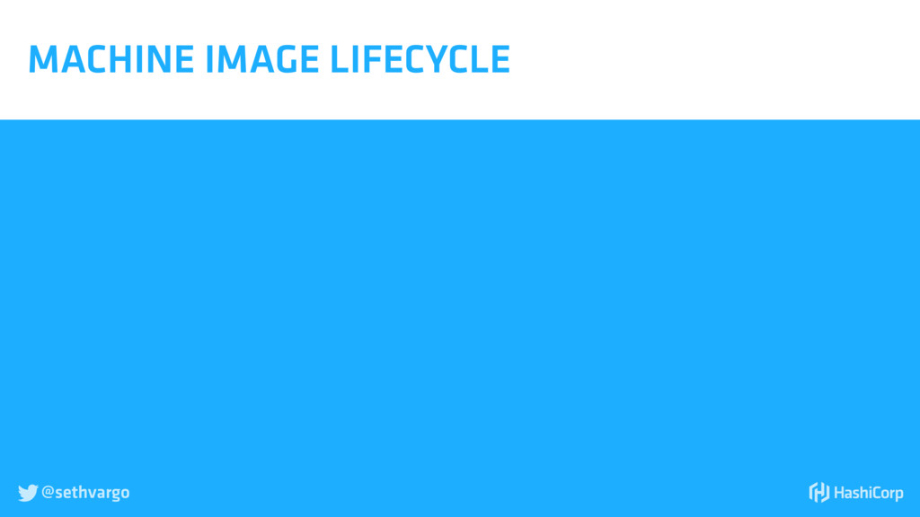 @sethvargo  MACHINE IMAGE LIFECYCLE