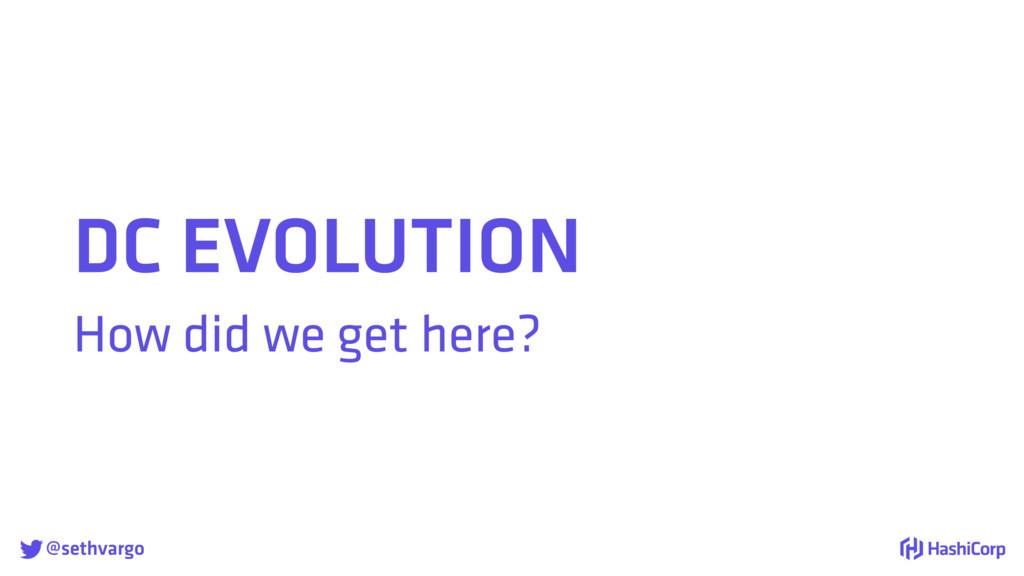 @sethvargo DC EVOLUTION How did we get here?