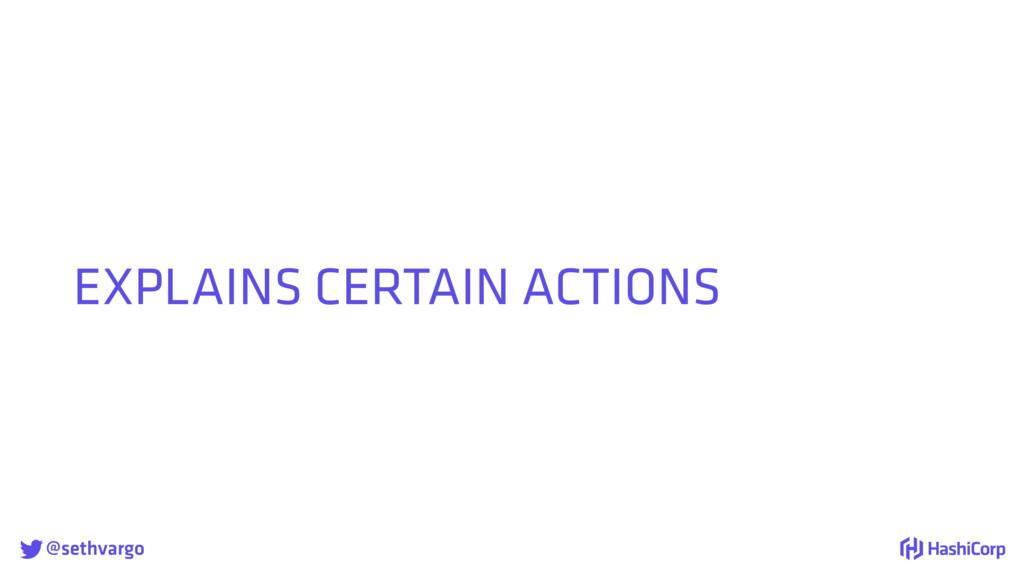 @sethvargo EXPLAINS CERTAIN ACTIONS