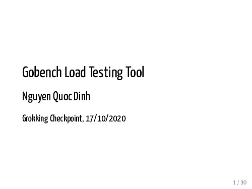 Gobench Load Testing Tool Nguyen Quoc Dinh Grok...