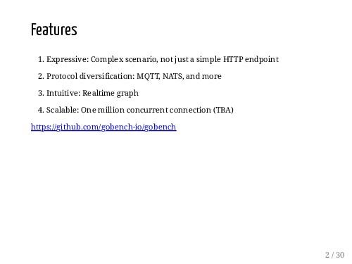 Features 1. Expressive: Complex scenario, not j...