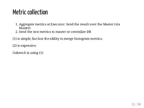 Metric collection 1. Aggregate metrics at Execu...
